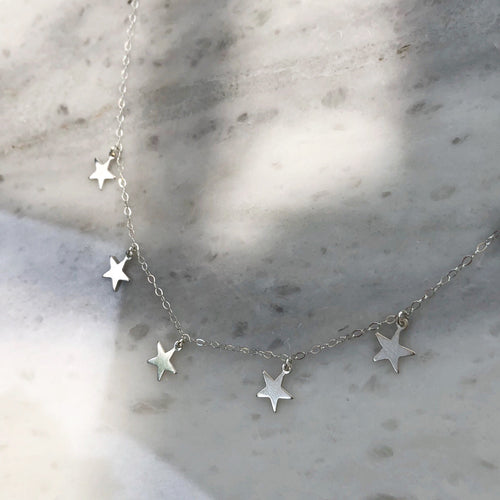 All The Stars Choker in Sterling Silver