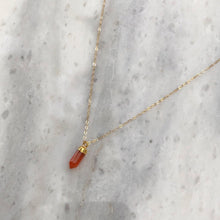 Courage Stone Necklace in 14k Gold