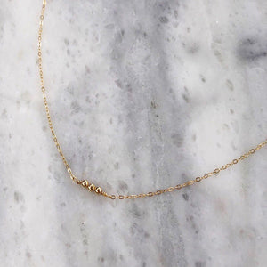 Power of Three Choker in 14k Gold