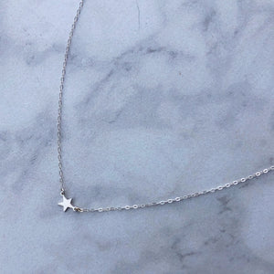 Shooting Star Choker in Sterling Silver