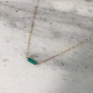 Turquoise Choker in 14k Gold