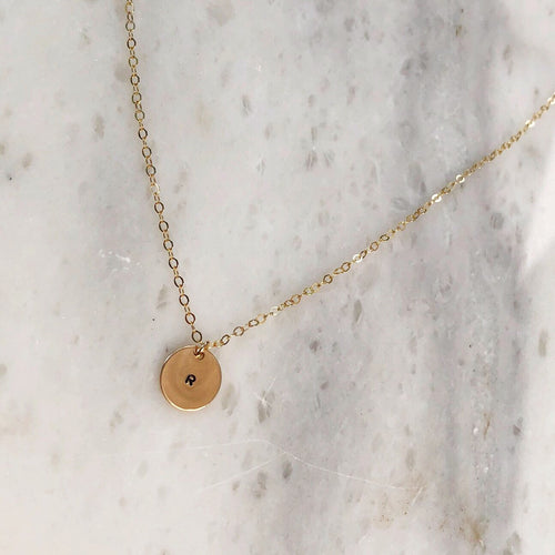 Initial Necklace in 14k Gold