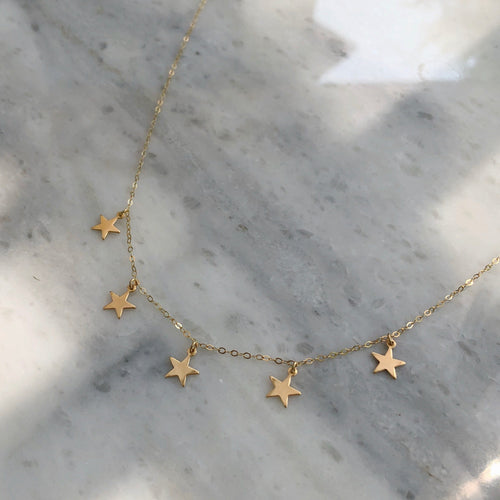 All The Stars Choker in 14k Gold