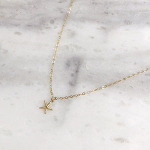 Starfish Choker in 14k Gold