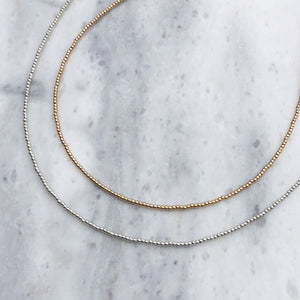 Simple Beaded Necklace in Sterling Silver