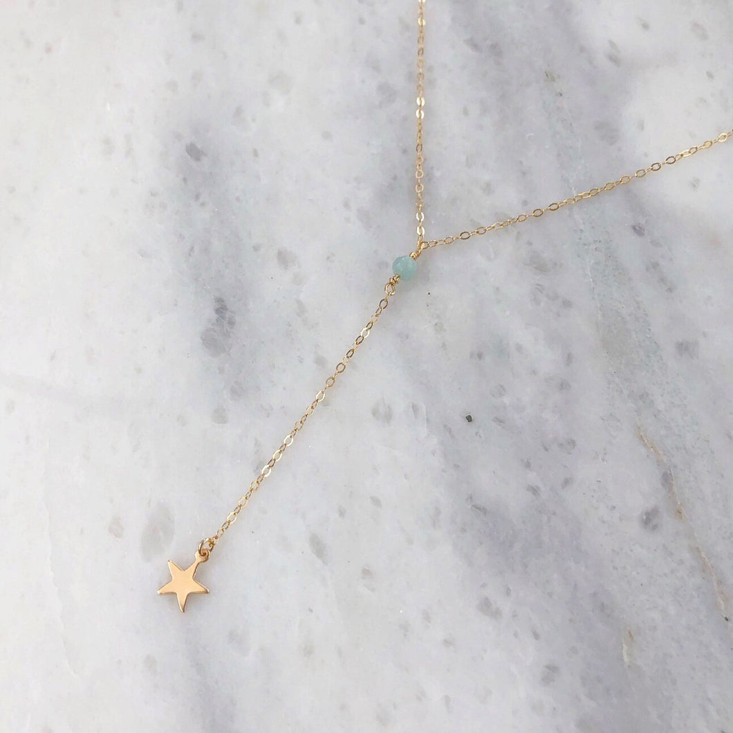 Stargazer Lariat in 14k Gold