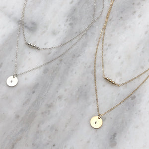 Initial Necklace SET in Sterling Silver