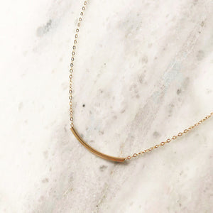 Tunnel Necklace in 14k Gold