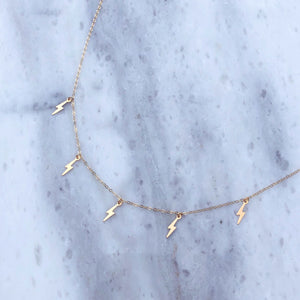 Lightning Strike Choker in 14k Gold