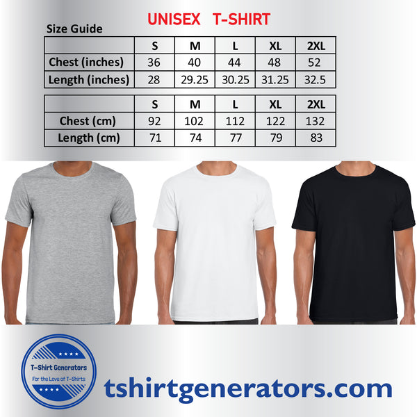 Unisex T-Shirts Size Guide | T-Shirt Generators