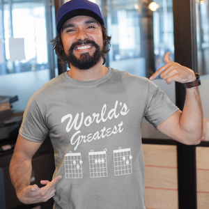 World's Greatest DAD, Guitar Chord T-Shirt