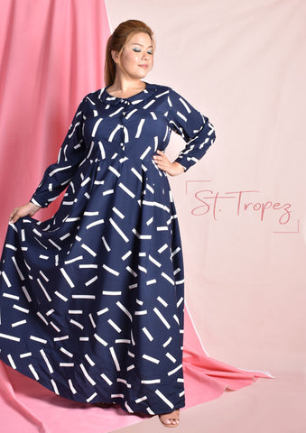 St. Tropez Peter Pan Collar Maxi Dress