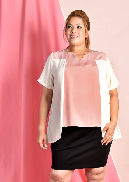 Ching Er Keyhole Blouse in Pastel