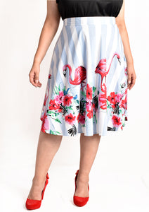 Flamingo Skater Skirt