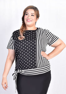 Polka Dot and Stripes Blouse