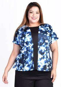 Blue Floral Printed Blouse