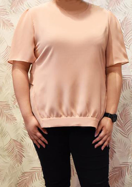 Chiffon Pink Semi-formal Blouse
