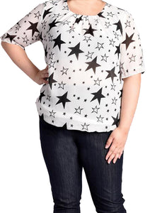 Star Printed Blouse