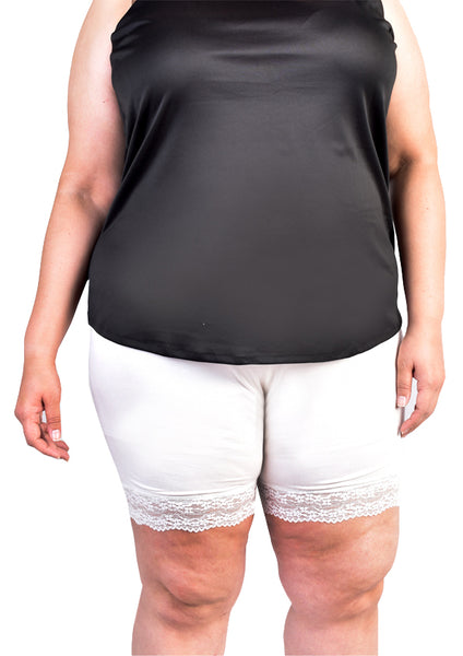 Lace Safety Shorts (Black/White)