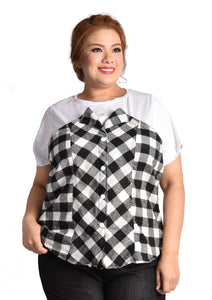 Monochrome Checkered T-shirt