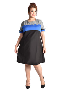 Scallop Detailed Work Dress with Pockets