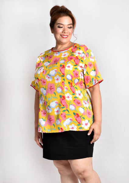 Heart-shape Cut-out Blouse (Cat/Yellow/White/Light Blue/Dark Blue)