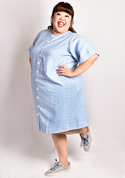 Light Blue Axis Button Down Dress