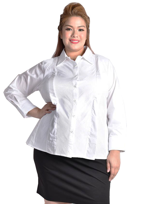 White Formal Blouse with Long Sleeve