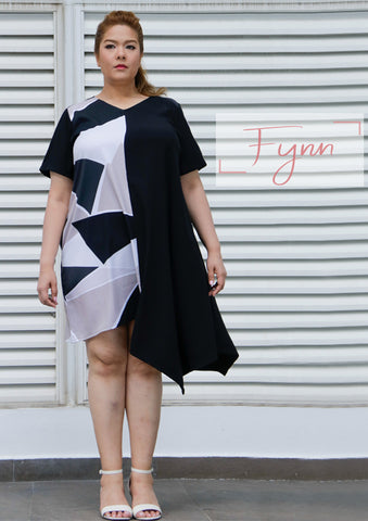 Fynn Asymmetrical Geometric Loose Cut Dress