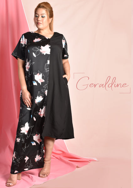 Geraldine Asymmetrical Panel Maxi Dress