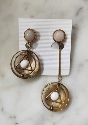 Asymmetrical Geometric Dangling Earrings