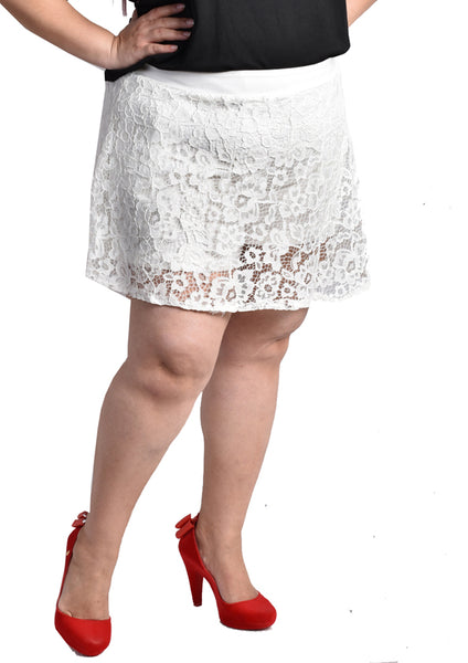 Lace Skorts (Black/Dark Blue/Red/White)
