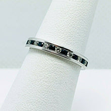 Load image into Gallery viewer, Benchmark 513561W Sapphire Diamond 14k Gold Eternity Ring Band