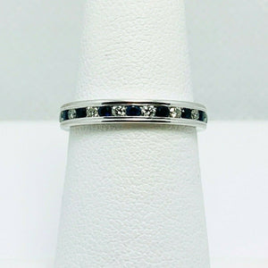 Benchmark 513561W Sapphire Diamond 14k Gold Eternity Ring Band