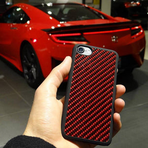 Real Red Carbon Fiber Phone Case for Apple iPhone - PetrolHeadsWorld