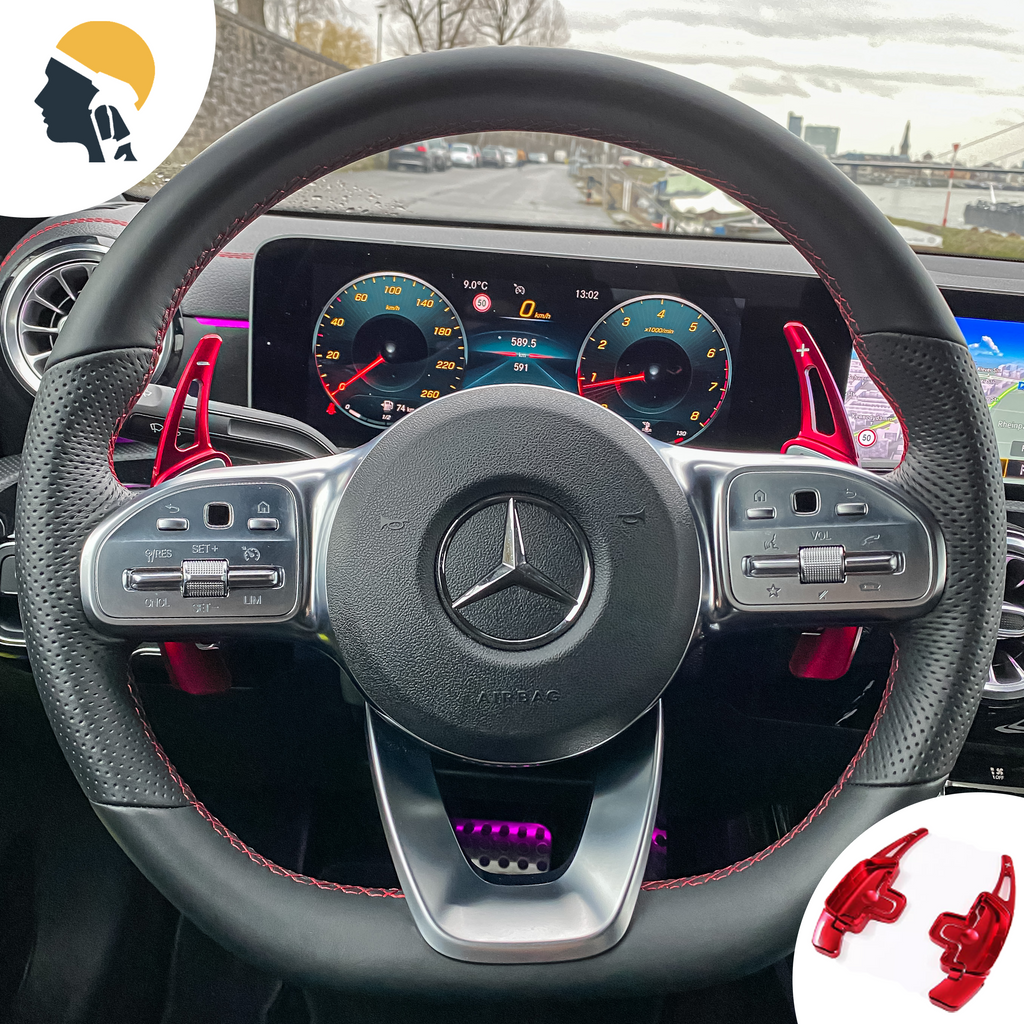 Aluminium Steering Wheel Paddle Shifter Extension for AMG Line - PetrolHeadsWorld