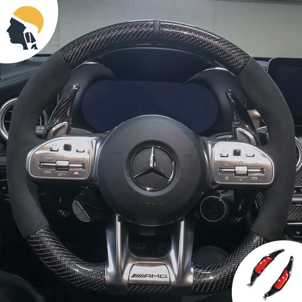 MB AMG Lovers Carbon Fiber Paddle Shifter Extension for Mercedes AMG - PetrolHeadsWorld
