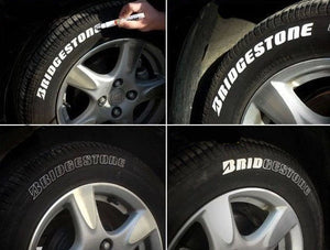 White Waterproof Tire Painting Permanent Marker - PetrolHeadsWorld