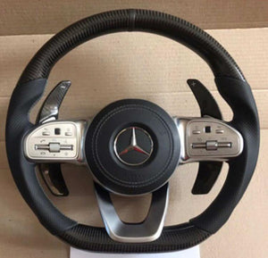 Carbon Fiber Steering Wheel Paddle Shifter Extension for AMG Line - PetrolHeadsWorld