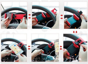 Car Steering Wheel Universal Mobile Phone Holder - PetrolHeadsWorld