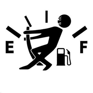 Funny 'Fuel Tank Empty' Sticker Vinyl for Fuel Tank Cap - PetrolHeadsWorld