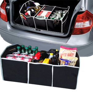 Car Folding Trunk Cargo Organizer Black - PetrolHeadsWorld
