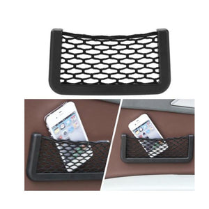 Universal Car Seat Side Storage Net Bag Phone Holder & Pocket Organizer - PetrolHeadsWorld
