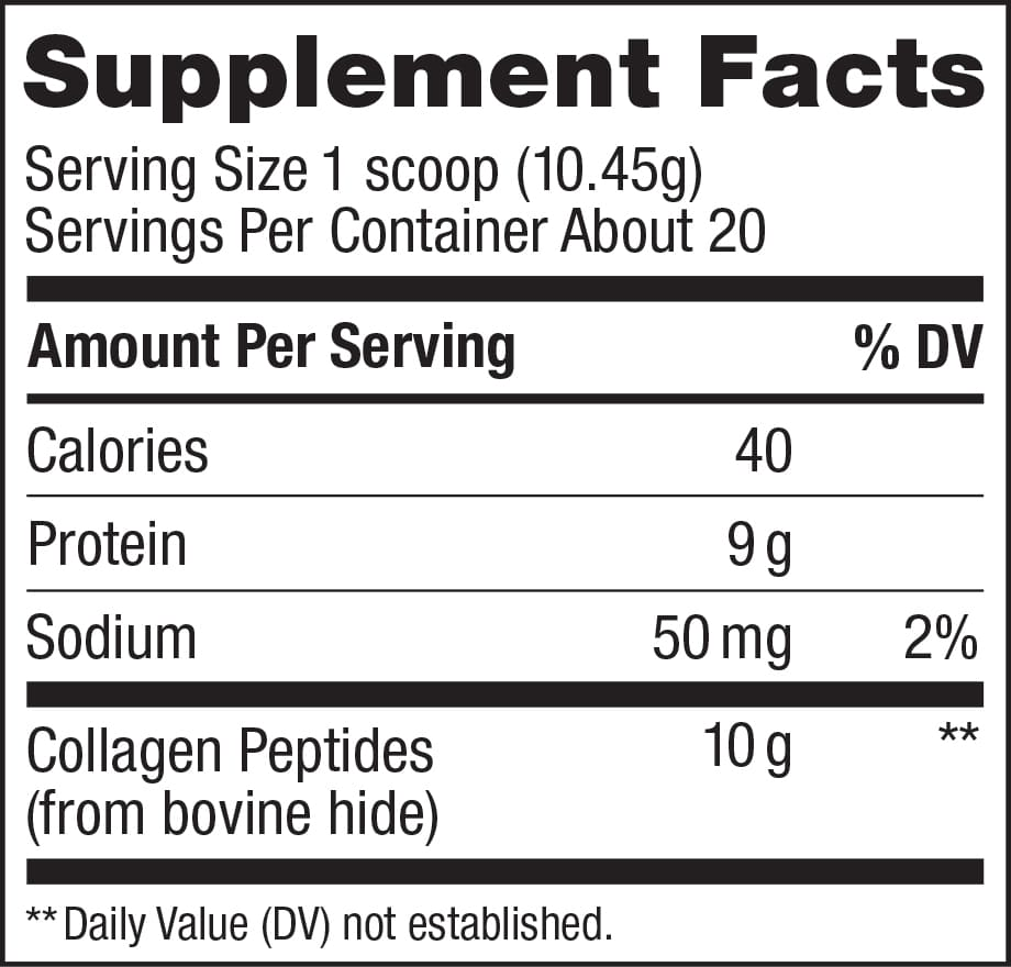 Collagen Peptides Powder Ingredients