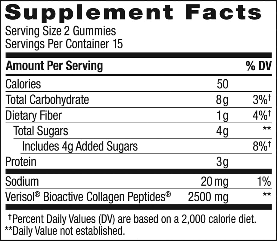 Collagen Gummy Rings Ingredients