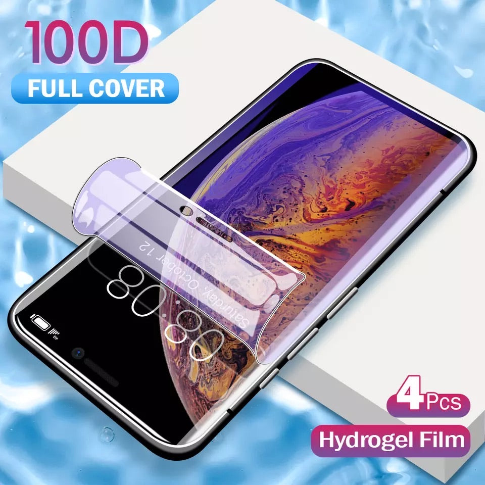 4 PACK Hydrogel IPhone Blue Light Screen Protector