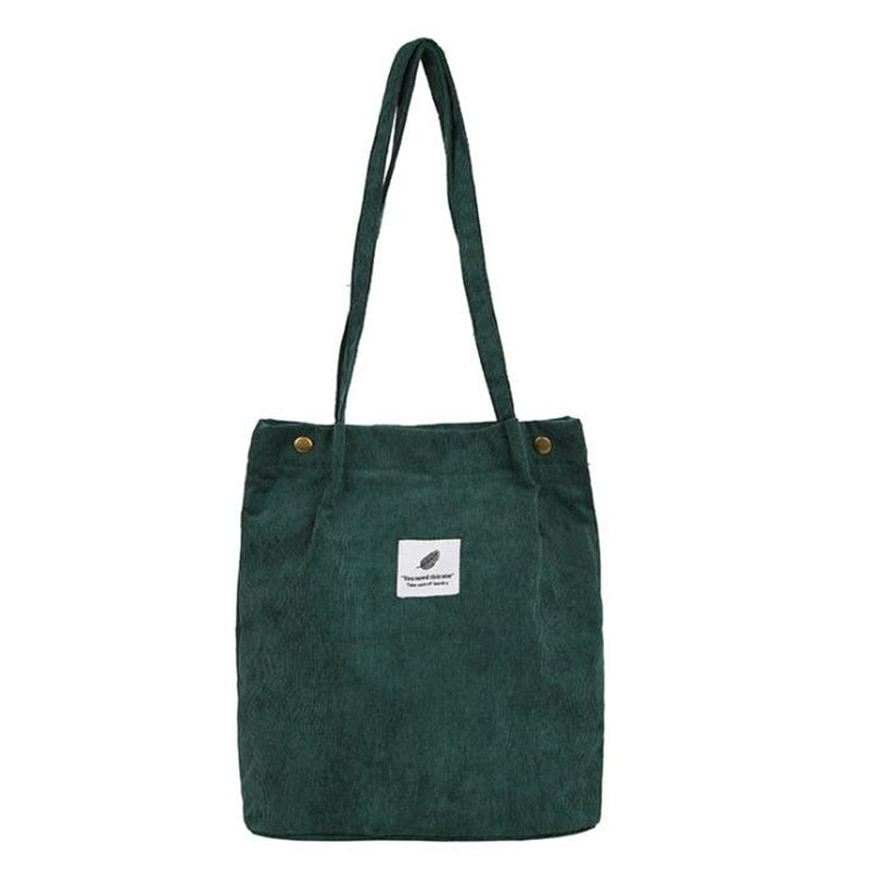 Eco Corduroy Tote Shopping Bag
