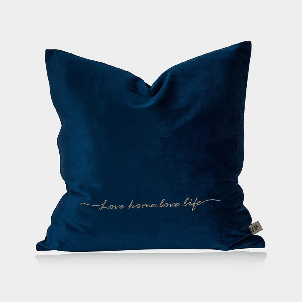 Mist Blue Velvet Pillow Cover