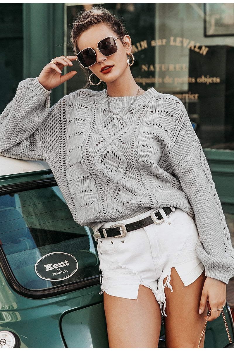 Delicate knitted sweater