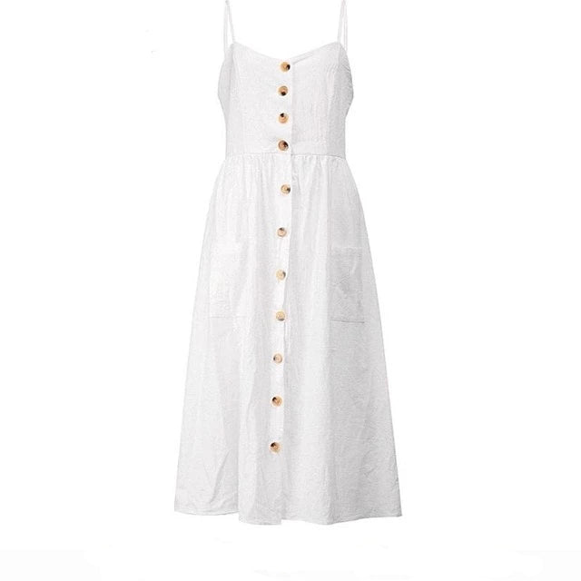 Buttoned summer dress
